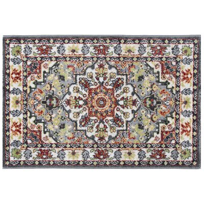 Tyshawn Oriental Gray/Brown Area Rug Rug Size: Rectangle 53 x 73
