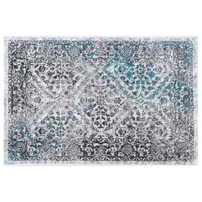 Tyshawn Oriental Cream/Gray Area Rug Rug Size: Rectangle 9 x 13