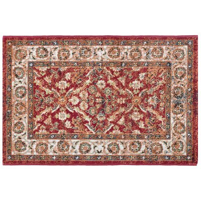Tyshawn Oriental Red Area Rug Rug Size: Rectangle 2 x 3