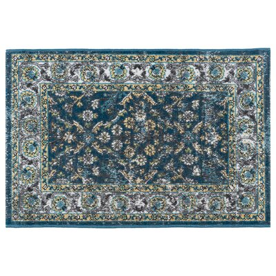 Tyshawn Oriental Navy Area Rug Rug Size: Rectangle 2' x 3'