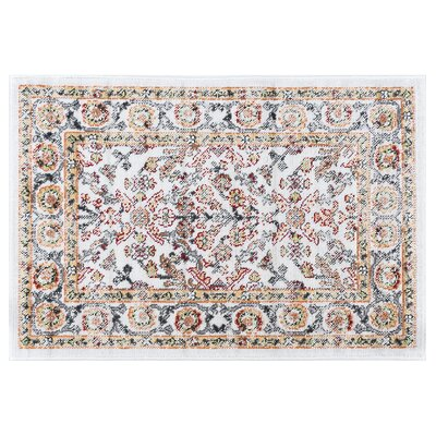 Tyshawn Oriental Beige Area Rug Rug Size: Rectangle 2' x 3'