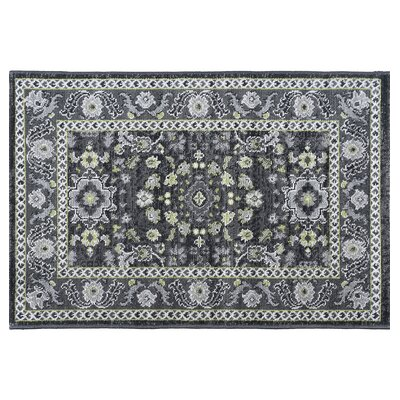 Tyshawn Oriental Gray Area Rug Rug Size: Rectangle 2 x 3