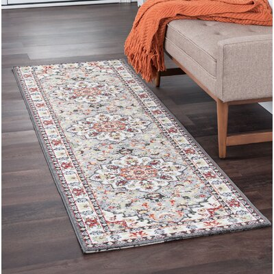 Tyshawn Oriental Gray/Brown Area Rug Rug Size: Runner 23 x 11