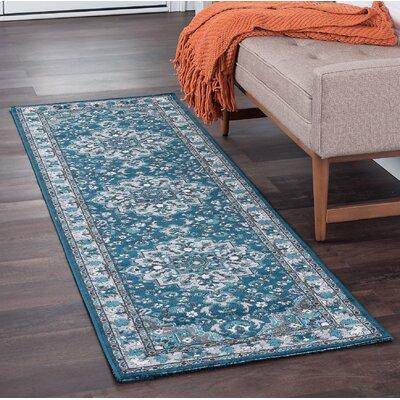 Tyshawn Oriental Blue Area Rug Rug Size: Runner 2 x 8