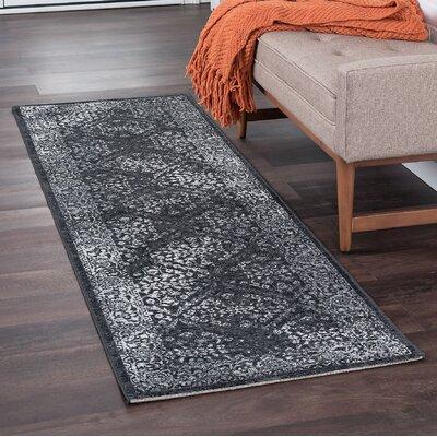 Tyshawn Modern Oriental Gray Area Rug Rug Size: Runner 2 x 11