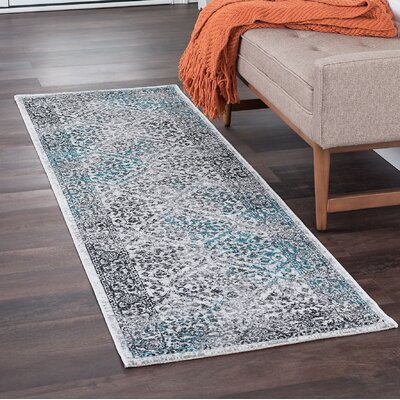 Tyshawn Oriental Cream/Gray Area Rug Rug Size: Runner 2 x 11