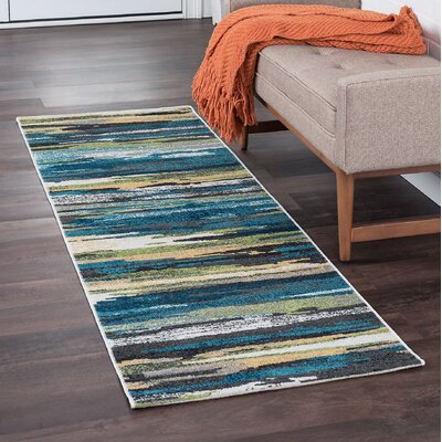 Romriell Oriental Blue Area Rug Rug Size: Runner 2 x 8