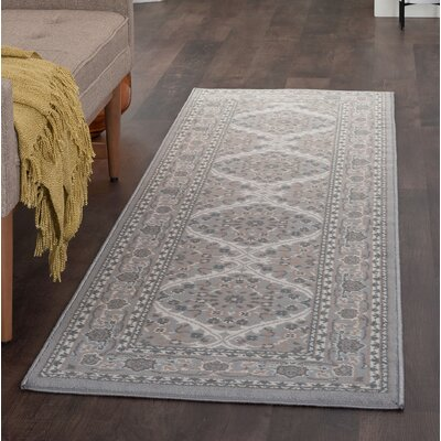 Dolphus Oriental Gray Area Rug Rug Size: Runner 2 x 8