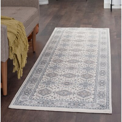 Dolphus Oriental Scatter Cream Area Rug Rug Size: Runner 2 x 8
