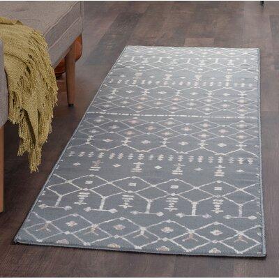 Topanga Oriental Dark Gray Area Rug Rug Size: Runner 2 x 8