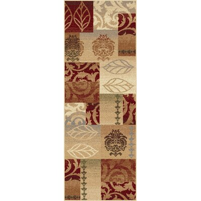 Lares Red Multi Classic Collage Rug Rug Size: Runner 27 x 73