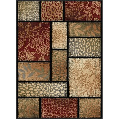 Lares Red Multi Nature Mix Rug Rug Size: Rectangle 53 x 73