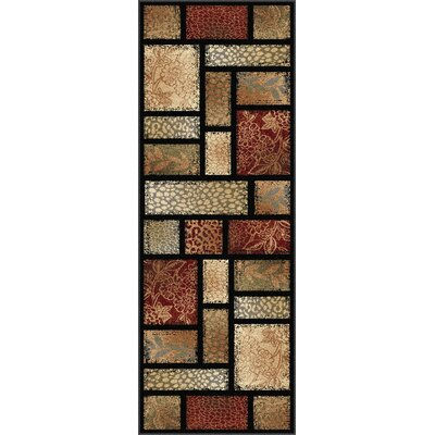 Lares Red Multi Nature Mix Rug Rug Size: Runner 27 x 73