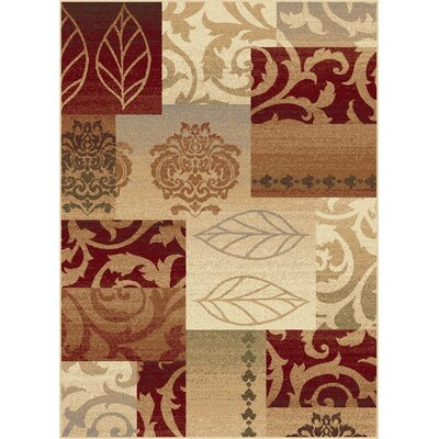 Impressions Red Multi Classic Collage Rug Rug Size: 53 x 73
