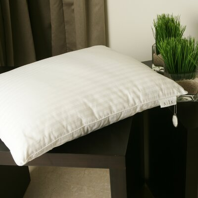 Silk-Filled Single Down Alternative Pillow Size: King