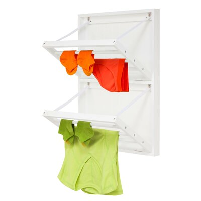 Vertical Dual Wall-Mounted Drying Rack DRY-04445