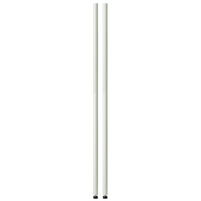 54 Pole with Leg Levelers Finish: White