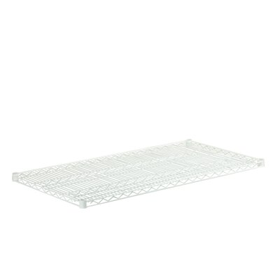 24 W x 48 D Steel Shelf Finish: White