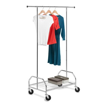 Garment Rack with Bottom Shelf