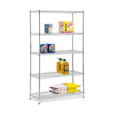 72 H 5 Shelf Shelving Unit Starter Finish: Chrome
