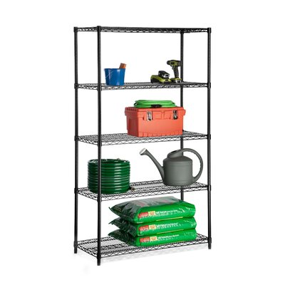 72 H 5 Shelf Shelving Unit Starter Finish: Black