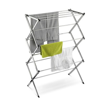 Commercial Chrome Accordion Drying Rack