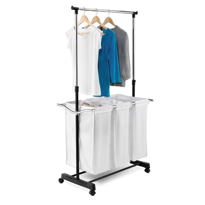 Honey Can Do Adjustable Height Laundry Center in Chrome at Sears.com