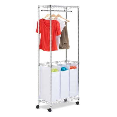Honey Can Do Urban Rolling Laundry Center in Chrome at Sears.com