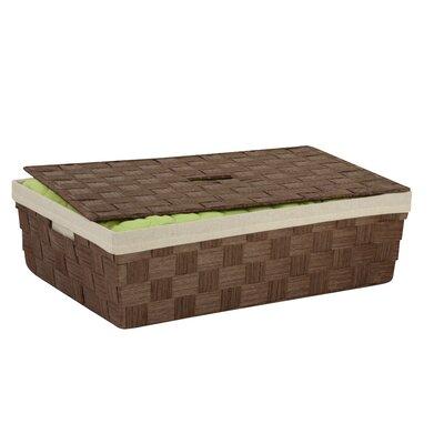 Lidded Underbed Basket Color: Brown