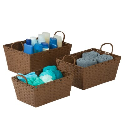 Simple Storage Bins Color: Brown