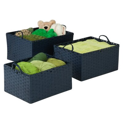 Simple Storage Bins Color: Blue