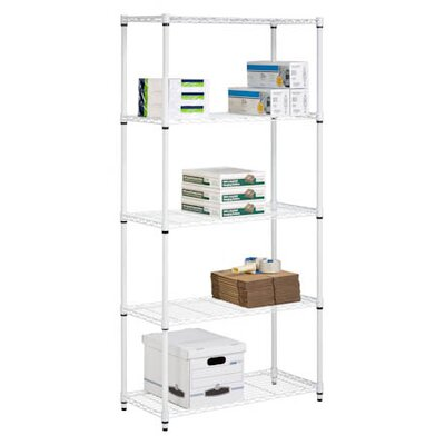 Storage 72 H 5 Shelf Shelving Unit Finish: White image