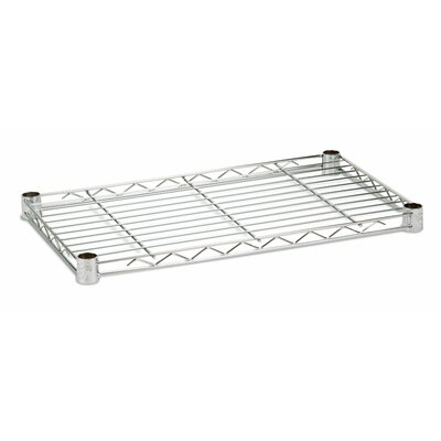 14 W x 36 D Steel Shelf Finish: Chrome