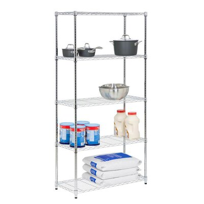 Storage 72 H 5 Shelf Shelving Unit Finish: Chrome