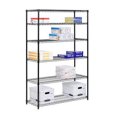 72 H 6 Shelf Shelving Unit Starter Finish: Black image