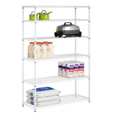 72 H 6 Shelf Shelving Unit Starter Finish: White image