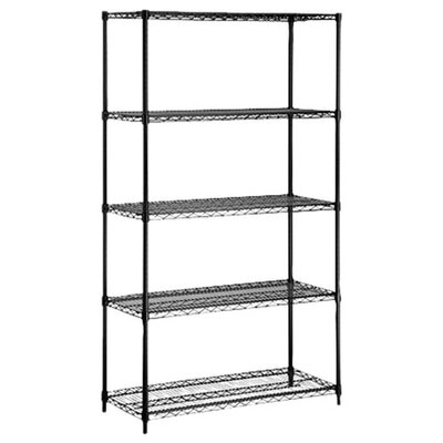 Storage 72 H 5 Shelf Shelving Unit Finish: Black image