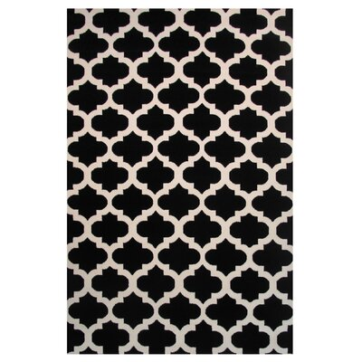 Botticelli Black Area Rug Rug Size: Rectangle 5 x 8