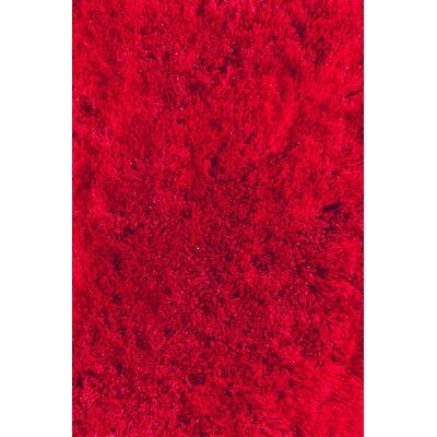 Soft Shaggy Red Indoor Area Rug