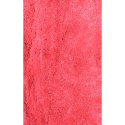 Silky Shag Hot Pink Indoor Area Rug Rug Size: 5 x 73