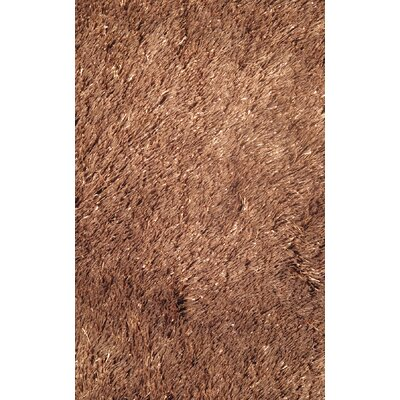 Silky Shag Brown Indoor Area Rug Rug Size: Rectangle 39 x 58