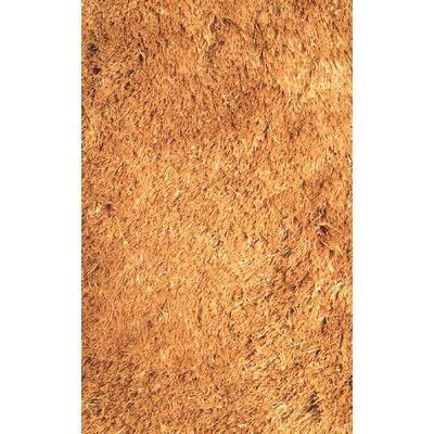 Silky Shag Gold Indoor Area Rug Rug Size: Rectangle 39 x 58