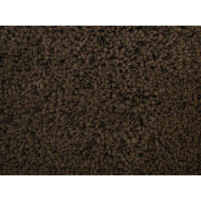 Shag Plus Light Brown Indoor Area Rug Rug Size: Round 5