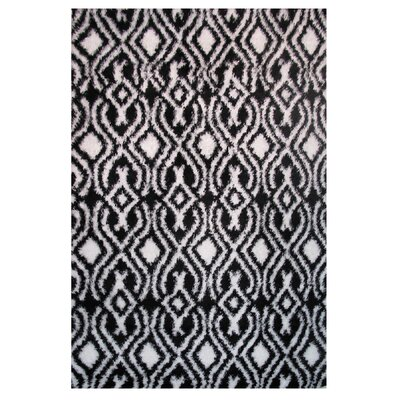 Touch Black/White Indoor Area Rug Rug Size: Runner 2 x 8