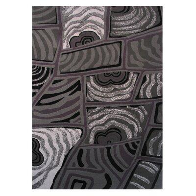 Black/Gray Area Rug Rug Size: 2 x 4