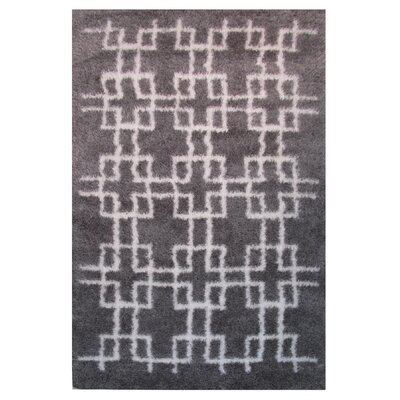 Touch Gray/White Indoor Area Rug Rug Size: 5 x 8