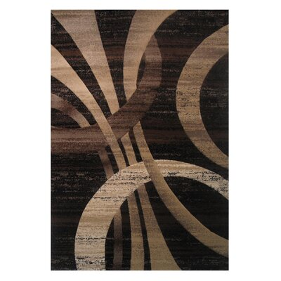Princess Black/Brown Area Rug Rug Size: 68 x 10