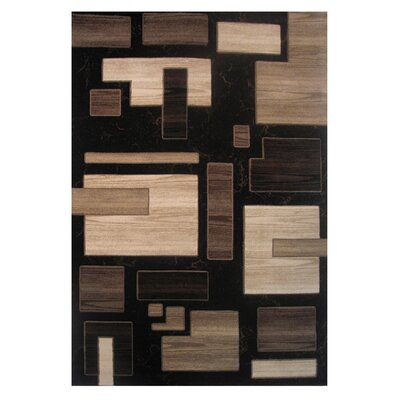 Princess Black/Brown Area Rug Rug Size: Rectangle 68 x 10