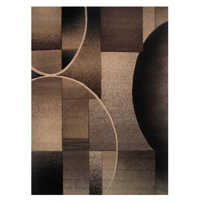 Princess Brown/Black Area Rug Rug Size: 5 x 73