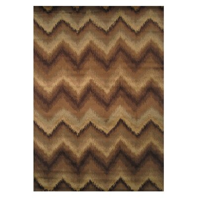 Inspiration Brown/Cream Area Rug Rug Size: Runner 2 x 8